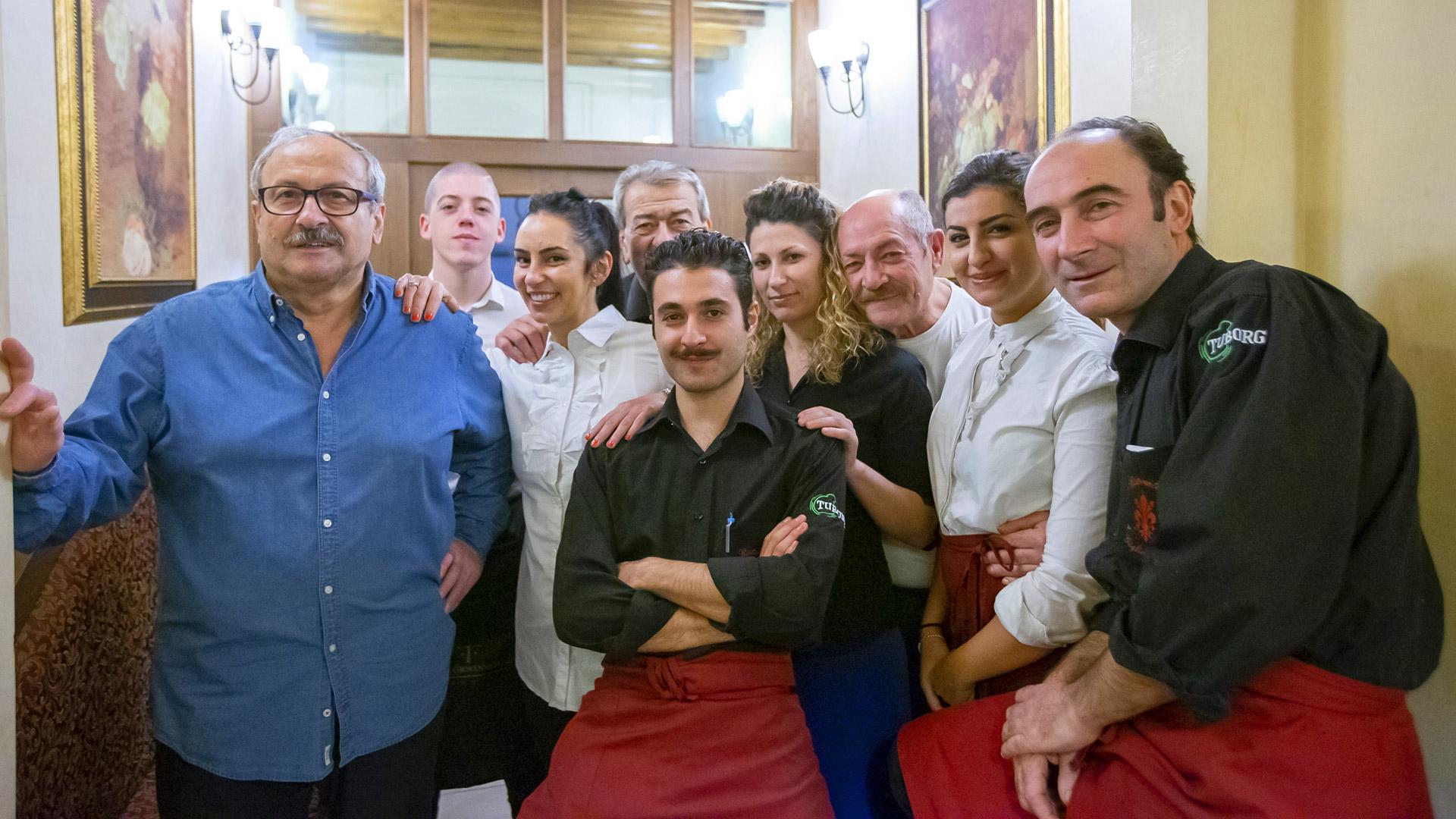 Staff ristorante Giglio Rosso - Piatti toscani