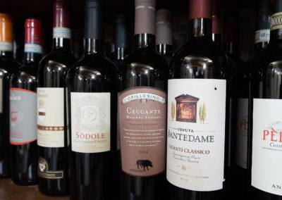 Selezione di vini - Ristorante Firenze giglio rosso