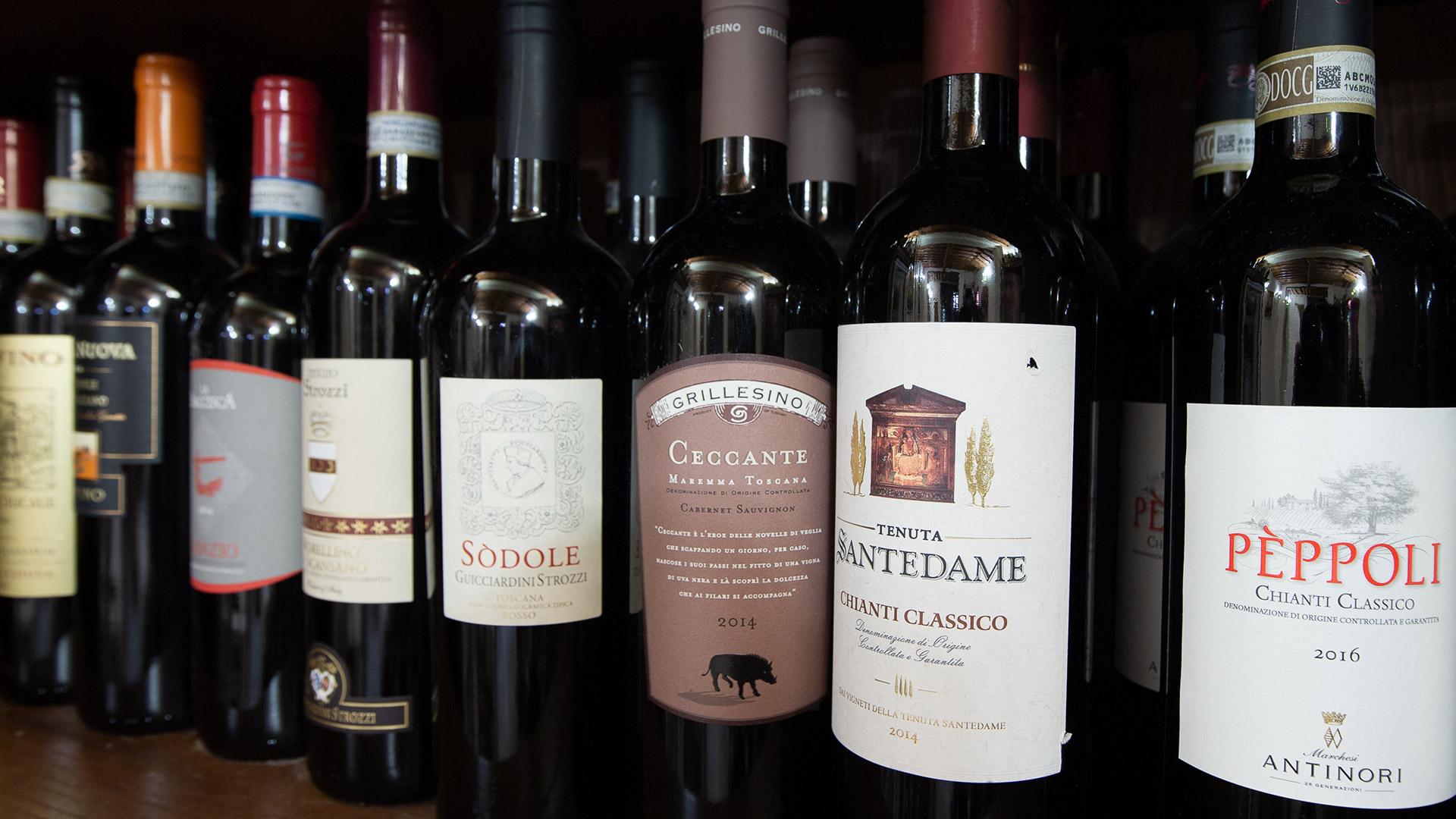 Vini Rossi Toscani selezionati delle migliori cantine - Carta dei vini Ristorante Firenze Giglio Rosso
