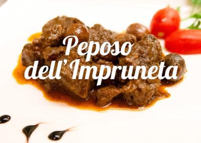 Piatti tipici toscani Peposo dell'Impruneta - Ristorante Firenze Giglio Rosso