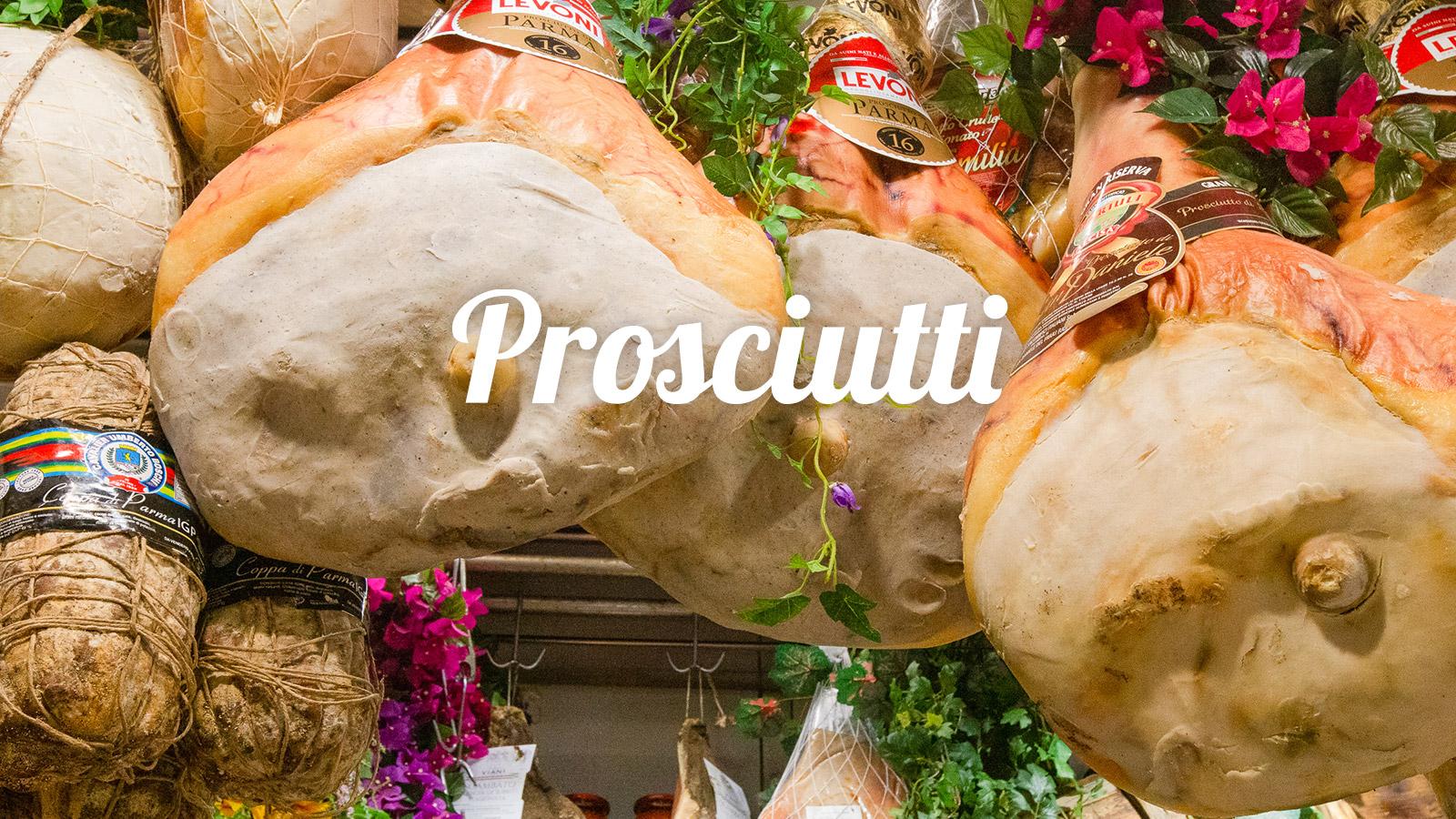 Prodotti di alta qualità per la nostra cucina tipica toscana -prosciutti - Giglio Rosso Ristorante