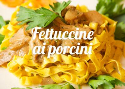 fettuccine porcini - Ristorante Toscano Giglio Rosso